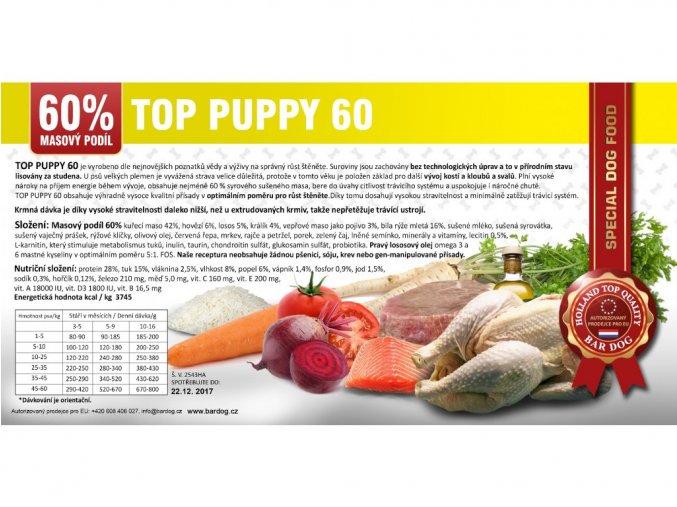 Bardog - top puppy 60 15kg