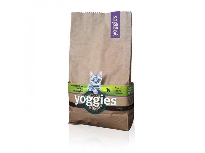 granule pro kocky yoggies cat basic 1 5kg